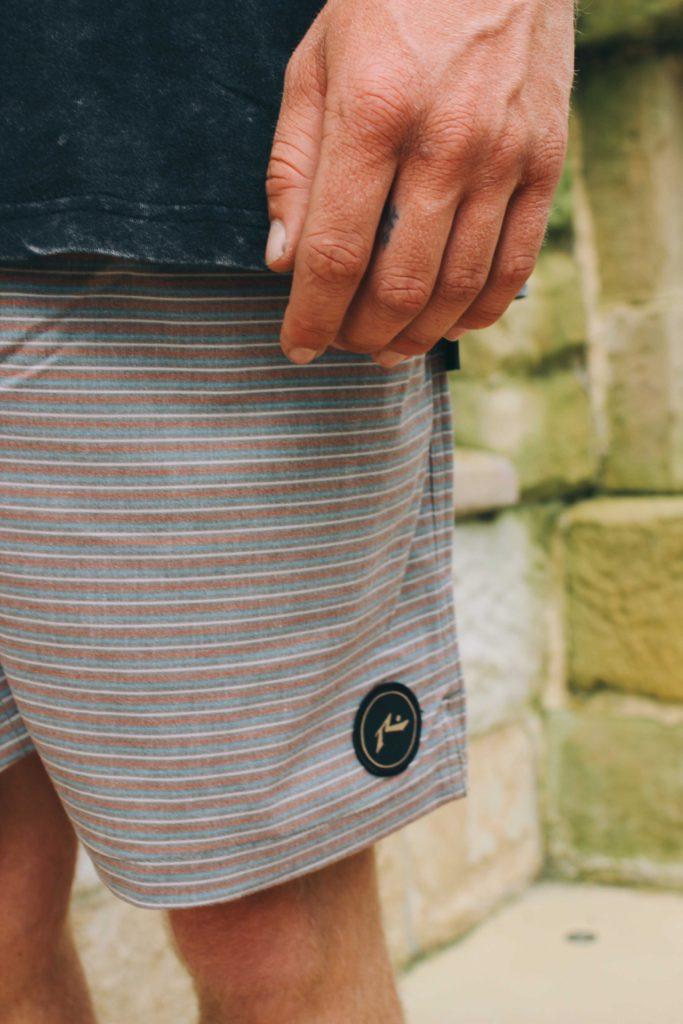 Rusty Micro Elastic Board Shorts paired with Santa Cruz Rock Tattoo Tee